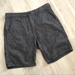 Levi's Linen Grey Heathered Flat Front Shorts
